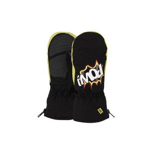 Rękawice snowboardow - grom mitt black (bk) rozmiar: j4 marki Pow