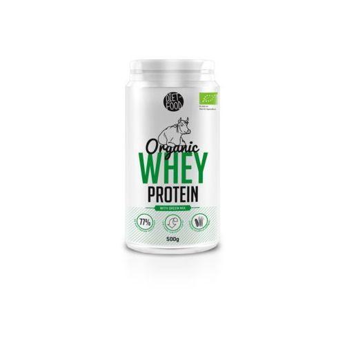 Diet-food Whey protein - białko z serwatki z zielonymi superfoodsami bio 500g (5901549275681)