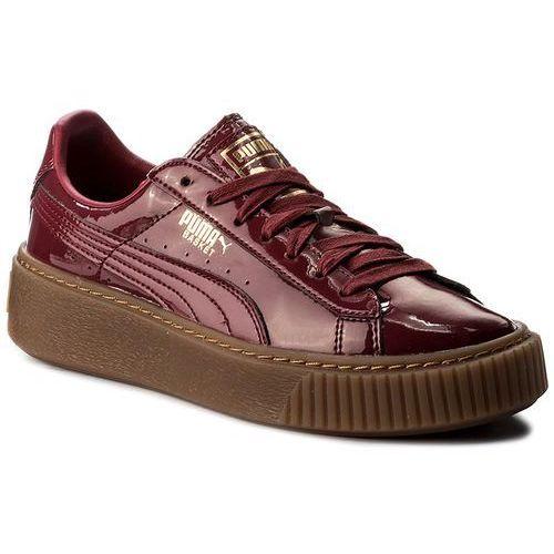 Sneakersy - basket platform patent wn's 363314 04 tibetan red/tibetan red marki Puma