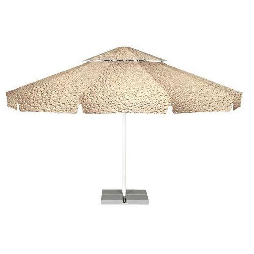 Parasol ogrodowy Vesuvio 5,5m Bąbelki Kremowo-Brązowe z podstawą, LITEX Promo Sp. z o.o. z Litex Garden