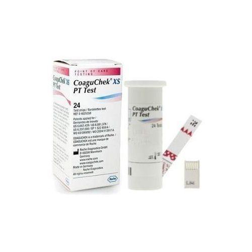 Roche diagnostics Testy inr coaguchek xs 24 sztuki - paski testowe do gęstości krwi