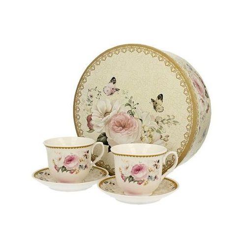 Duo 2 filiżanki z porcelany róże na prezent impusle