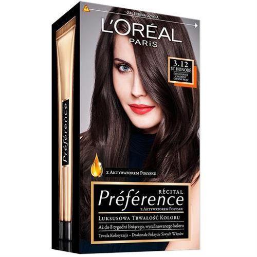 L'OREAL Recital Preference - farba do włosów 3.12 Intensywny Chlodny Ciemny Braz, L'Oreal Paris