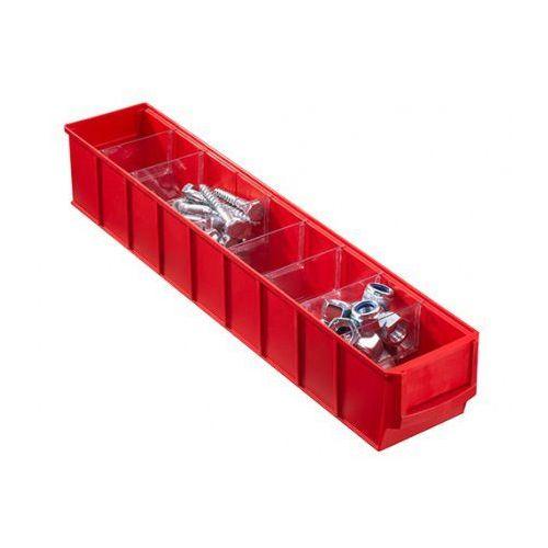 Plastikowy pojemnik do regału shelfpoj., 91 x 500 x 81 mm, czerwony marki Allit