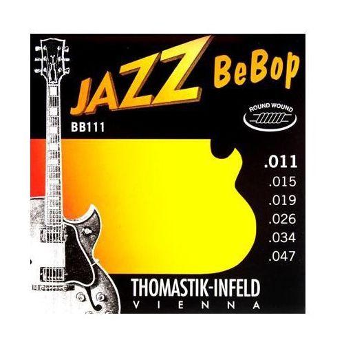 Thomastik BB111 (676807) Struny do gitary elektrycznej Jazz BeBop Series Nickel Round Wound Komplet