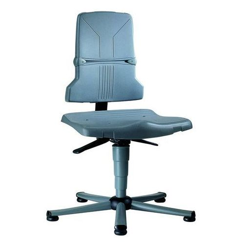 Bimos Obrotowe krzesło do pracy, tworzywo, wersja standardowa, szkielet z rurki stalow