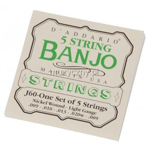 j 60 struny do banjo marki D′addario