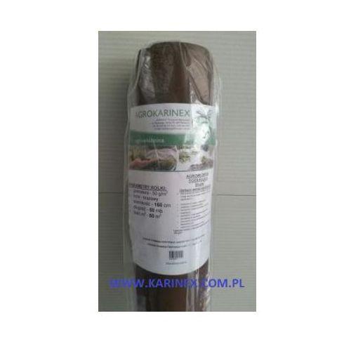 Agrowółknina ściółkujaca pp 50 g/m2 brązowa 1,6 x 50 mb. bez uv. marki Agrokarinex