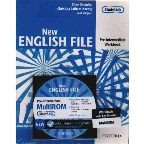 New English File pre-intermediate Workbook with key + Cd, Oxford