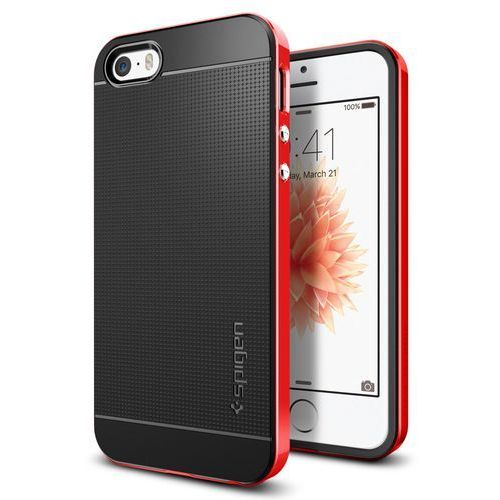 Sgp - spigen Obudowa spigen neo hybrid carbon apple iphone 5 / 5s / se dante red - dante red