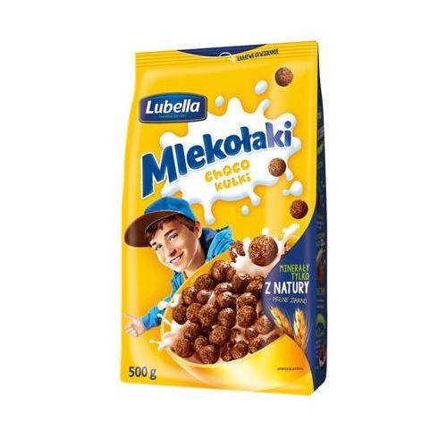 500g mlekołaki kulki choco zbożowe chrupki o smaku czekoladowym marki Lubella