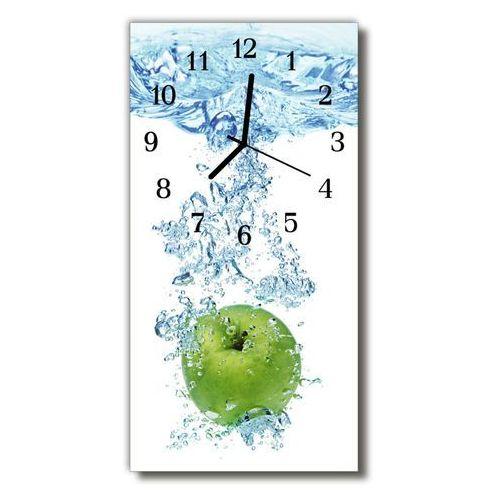 Tulup.pl Zegar szklany pionowy kuchnia woda jabłko kolorowy
