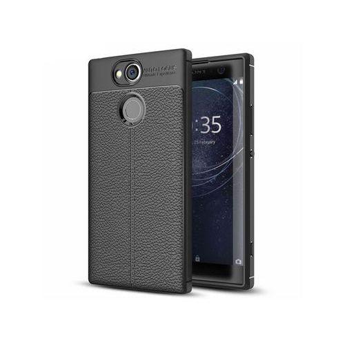 Etui pancerne Alogy leather case Sony Xperia XA2 czarne, kolor czarny