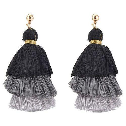 Kolczyki peruki czarne I - czarne I, kolor czarny