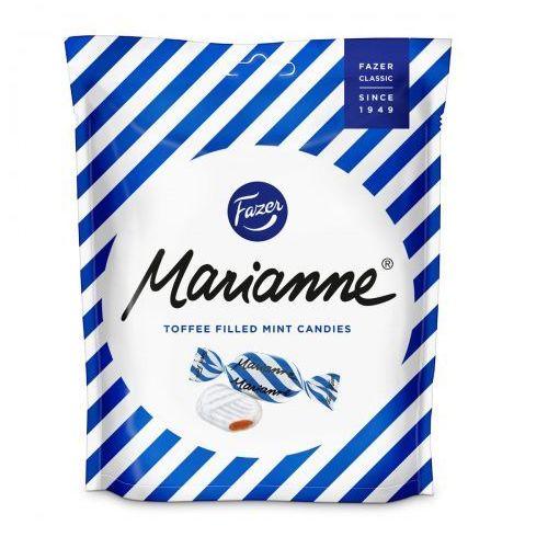 Fazer - marianne toffeemint - niebieskie - cukierki miętowe z wnętrzem toffie - 220g - z finlandii