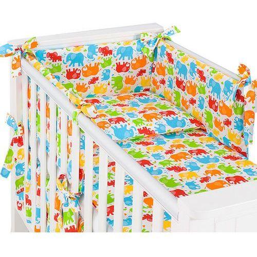 3-el pościel do łóżeczka 60x120 rozbieralna słonie kolorowe marki Mamo-tato
