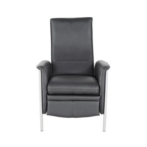 Lazy Fotel Rozkładany Czarny Skóra Ekologiczna 104x72x91 - 75575, marki Kare Design do zakupu w sfmeble.pl