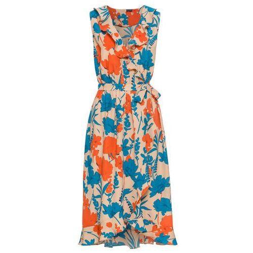Sukienka koronkowa czarno-beżowy, Bonprix, 44-50