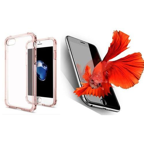 Zestaw   Spigen SGP Crystal Shell Rose Crystal   Obudowa + Szkło ochronne Perfect Glass dla modelu Apple iPhone 7