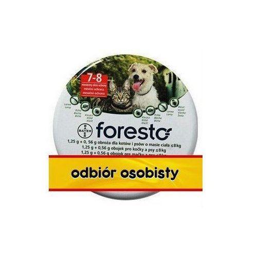Bayer Foresto Obroża 1,25g + 0,56g dla kotów i małych psów ze sklepu Platformazoo