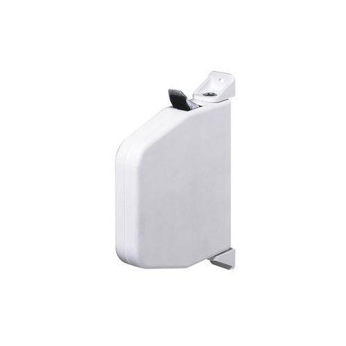 Miniaturowy, uchylny zwijacz do montażu natynkowego, bez linki, biały