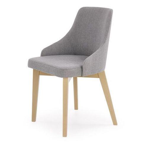 Halmar Wygodne krzesło na drewnianych nogach w kolorze dąb sonoma toledo