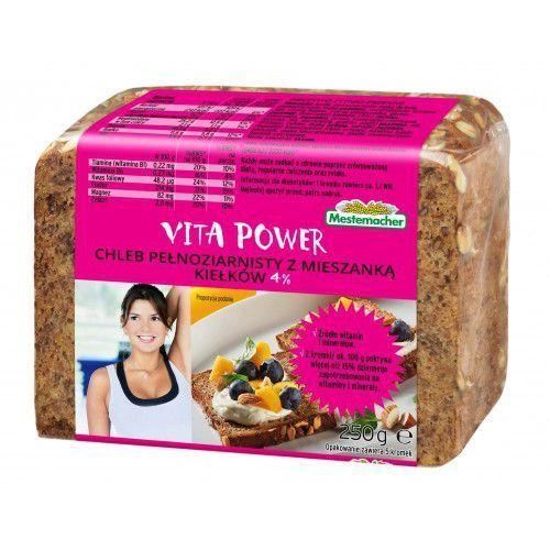 Mestermacher Vita power chleb pełnoziarnisty z mieszanką kiełków 4% 250 g (5900585001483)