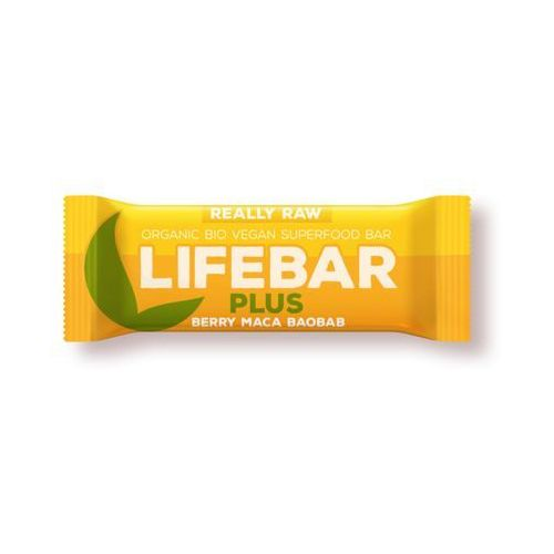Lifefood (batony raw, syrop z jakonu) Baton z żurawiną, macą i baobabem raw bio 47 g - lifefood