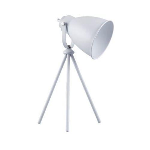 Stojąca LAMPA sztalugowa MARLA 7010102 Spotlight metalowa LAMPKA biurkowa na trójnogu biała, kolor Biały