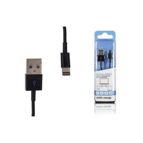 Whitenergy Kabel USB iPHONE Lightning 200 cm czarny, transfer, ładowanie DARMOWA DOSTAWA DO 400 SALONÓW !! (kabel komputerowy)