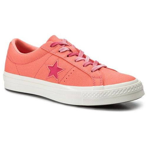Converse Tenisówki - one star ox 564152c turf orange/strawberry jam