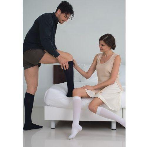 Podkolanówki uciskowe męskie cotton socks 820: rozmiar - 2, kolor - czarne marki Relaxsan