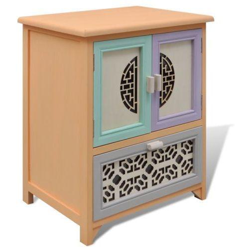 vidaXL Szafka, 1 szuflada, 2 drzwi, pięknie zdobiona i rzeźbiona - oferta [5547d04ef3af4785]