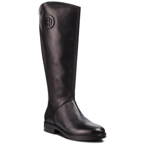 Oficerki - basic th riding boot fw0fw03433 black 990 marki Tommy hilfiger