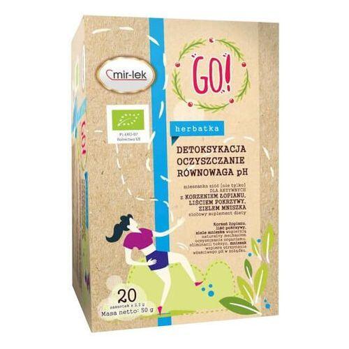 Mir-lek Herbatka go! detoksykacja - oczyszczanie - równowaga ph bio 20 x 2,5 g - (5906660437369)