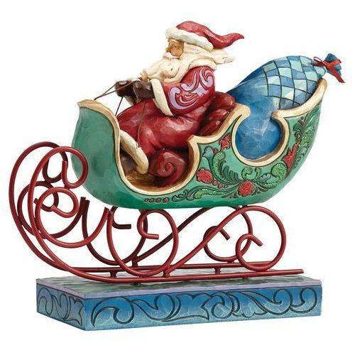 Mikołaj w saniach enjoy the ride 4053675 figurka ozdoba świąteczna marki Jim shore