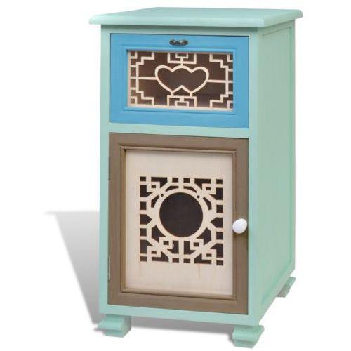 vidaXL Kolorowa szafka, 1 szuflada, drzwi doskonałe rzemiosło - produkt z kategorii- szafki
