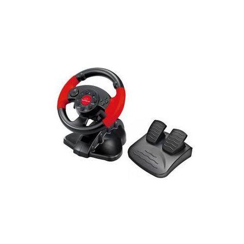 Kierownica eg103 high octane pro pc, ps1, ps2, ps3 + pedály (eg103) czarny/czerwony marki Esperanza
