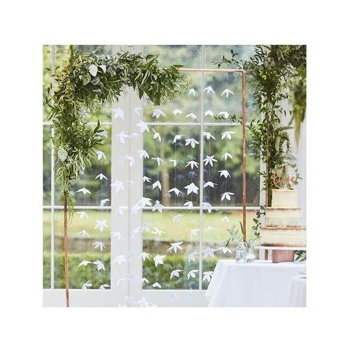 Ginger ray Dekoracja wisząca kwiatowa biała - 180 cm - 10 szt.