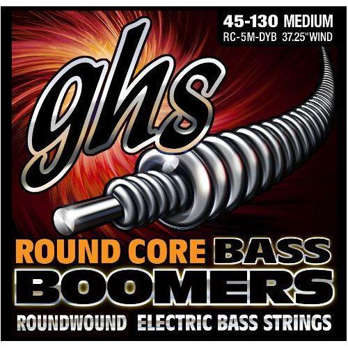 Ghs round core bass boomers struny do gitary basowej, 5-str. medium,.045-.130