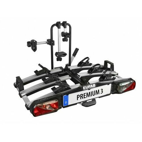 Eufab Składany bagażnik na rowery premium iii platforma uchwyt na hak + torba