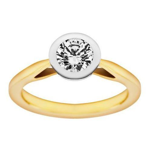 Pierścionek z żółtego złota z brylantem 0,45ct -PB/031b45, marki Świat Złota do zakupu w Świat Złota