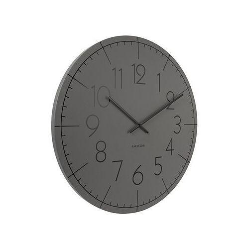Zegar ścienny Blade Numbers XL metal dark grey by Karlsson
