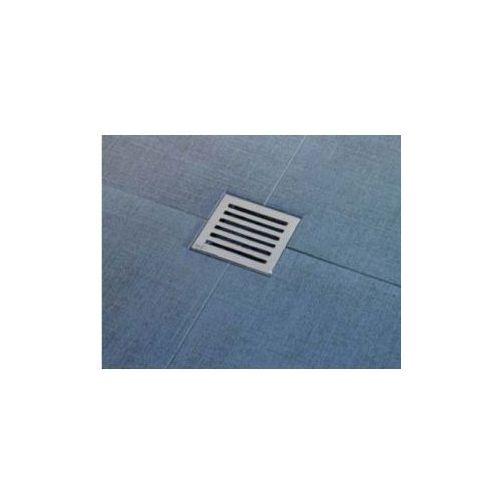 Kratka ściekowa nierdzewna 105x105 mm odpływ boczny Alcaplast APV103 - produkt z kategorii- kratki ściekowe