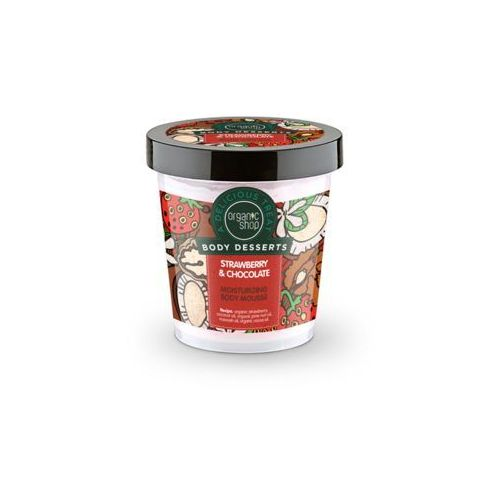Sib Organic shop body desserts mus do ciała nawilżajšcy strawberry & chocolat 450 ml (4744183012035)