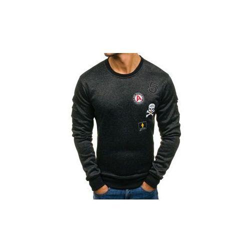 Bluza męska bez kaptura czarna denley dd30, J.style