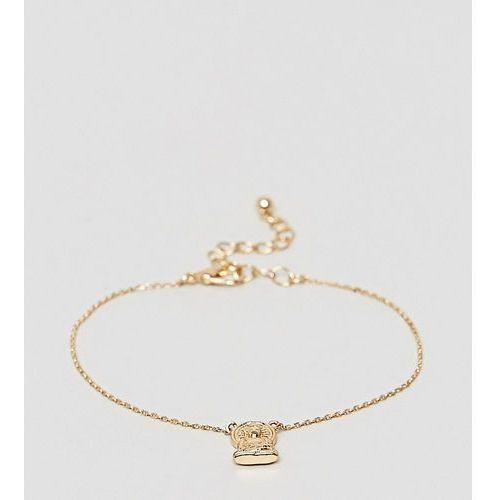 ASOS DESIGN Curve buddha charm bracelet - Gold