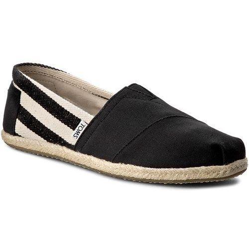 Espadryle TOMS - Classic 10005415 Black Stripe, kolor czarny