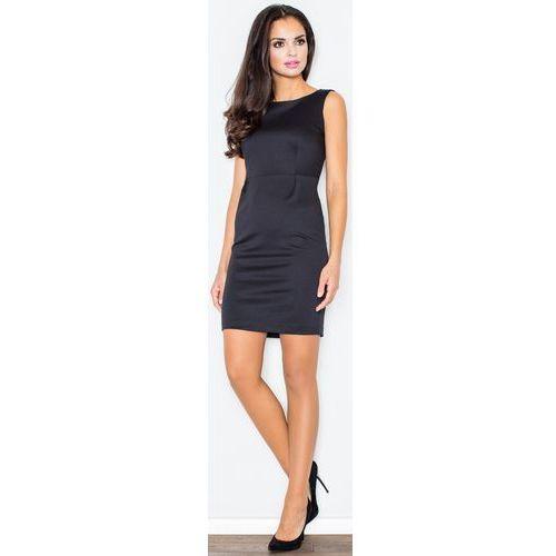 Sukienka M079 Czarny S, kolor czarny
