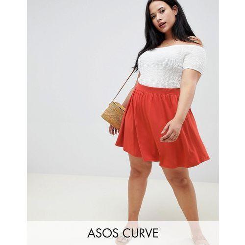 Asos design curve mini skater skirt - brown marki Asos curve